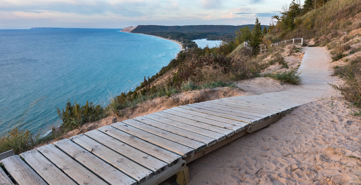 Lake Michigan Overlook at Sleeping Bear Dunes